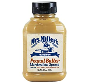 Mrs. Millers Homemade Peanut Butter Marshmallow Spread 12 oz. Jar (2 Bottles)