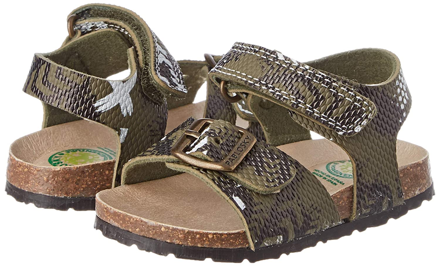 3.5 UK Verde 590180 Green Pablosky Boys Open Toe Sandals