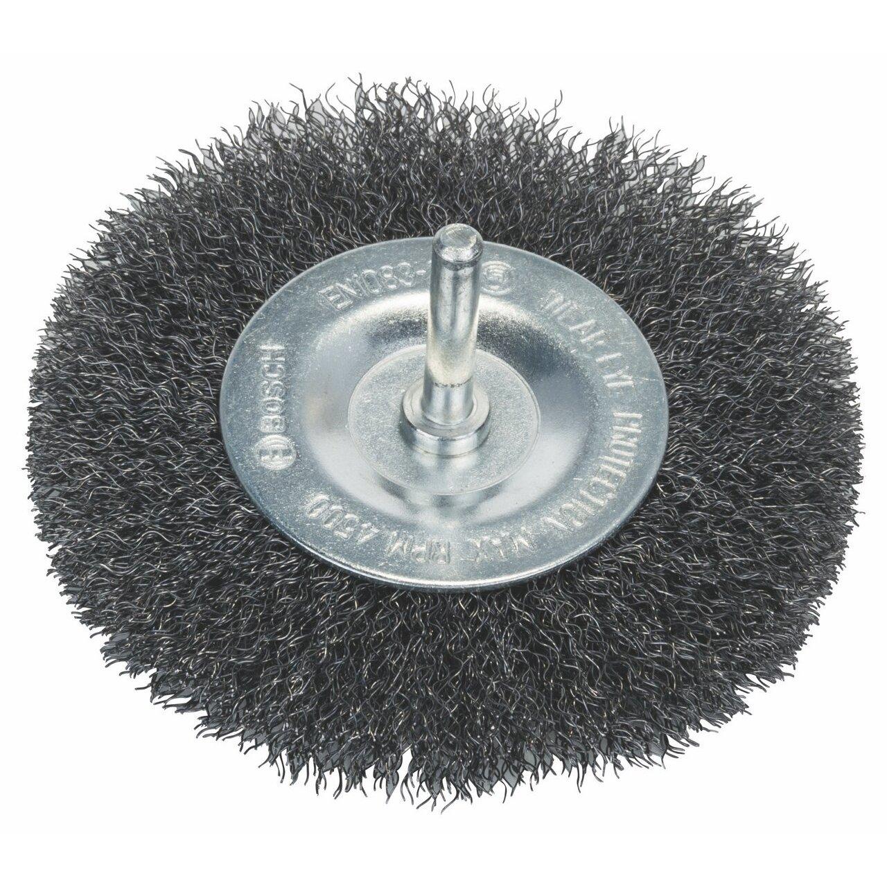 Bosch 1 609 200 273 1609200273 Brosse Circulaire 100 mm 0,3 mm 10 mm à Fils ondulés, Gris, 100 x 0,3 x 10 mm