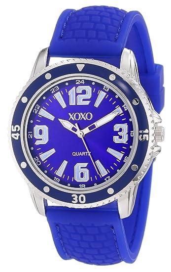 XOXO XO8071 - Reloj de Pulsera Mujer, Silicona, Color Azul