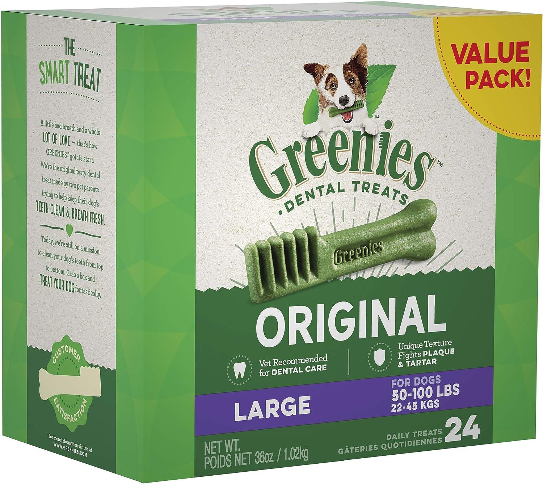GREENIES Original Large Dog Natural Dental Treats, 36 oz.