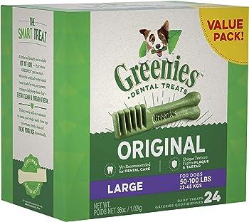 24-Count Greenies Original Large Natural Dental Dog Treats