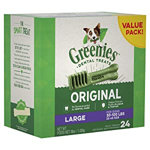 Greenies Dog Dental Chews Natural Dog Treats - Large Size (50-100 lb Dog)