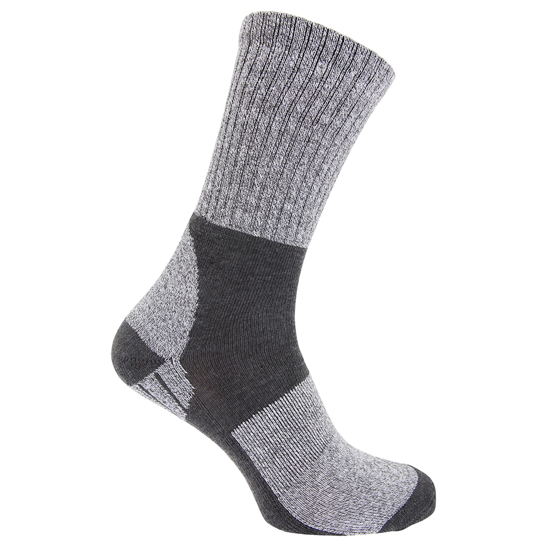 Storm Ridge Mens Trekking Socks With Cushioned Heel And Sole (1 Pair) EUR 41-46) (Gray) UTMB326_1