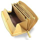 Morina 牛革 長財布 ラウンドファスナー ギャルソンウォレット 大きく開く 小銭入れ メンズ レディース