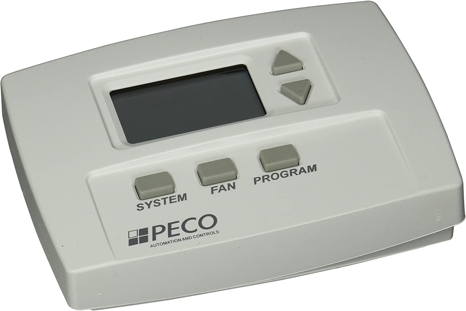 Peco TA180-001 3 Speed Fan Programmable Thermostat, 1H/1C, Line Voltage, White