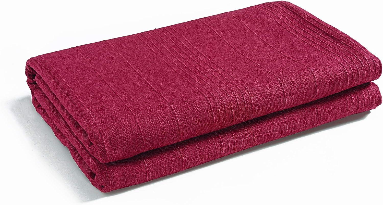 EliteHomeCollection Jet/é de canap/é//couvre-lit en coton c/ôtel/é Bordeaux 150/x/200/cm