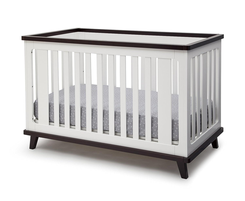 amazon com delta children ava 3 in 1 convertible crib white black