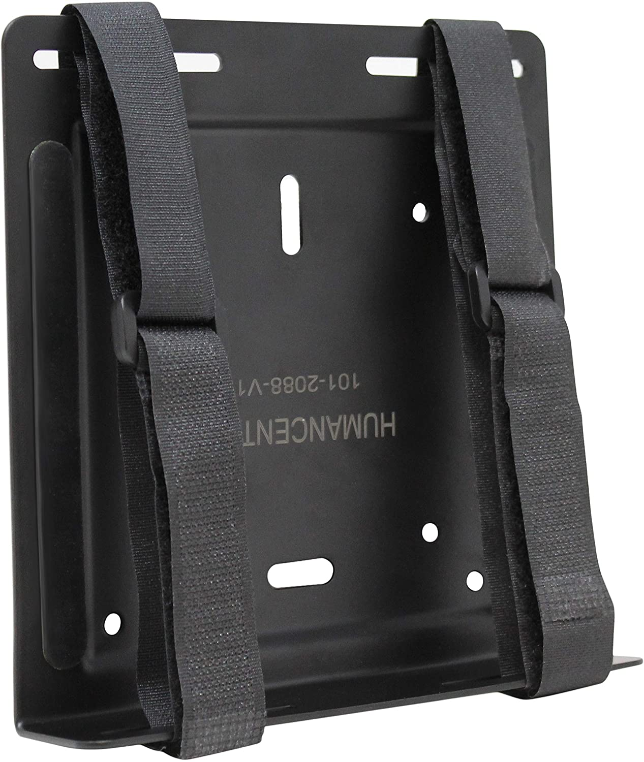 HumanCentric Universal Wall and VESA Mount | Adjustable Strap Mount for Computers, UPS Units, Cable Boxes, Modems, and Other Electronic Devices | Mounts on The Wall or Back of a Computer Monitor