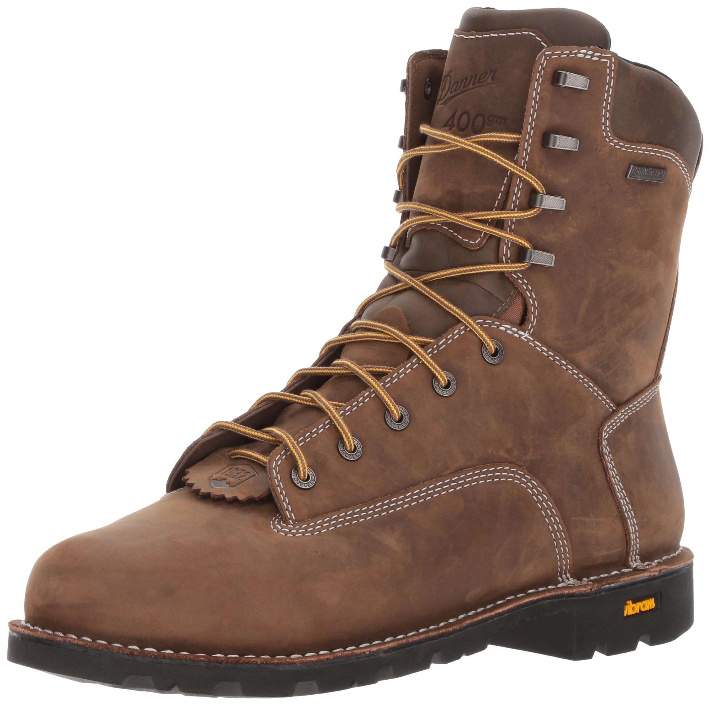 Danner Men's Gritstone Insulated 400G Work Boot, Brown, 12 D US by Danner