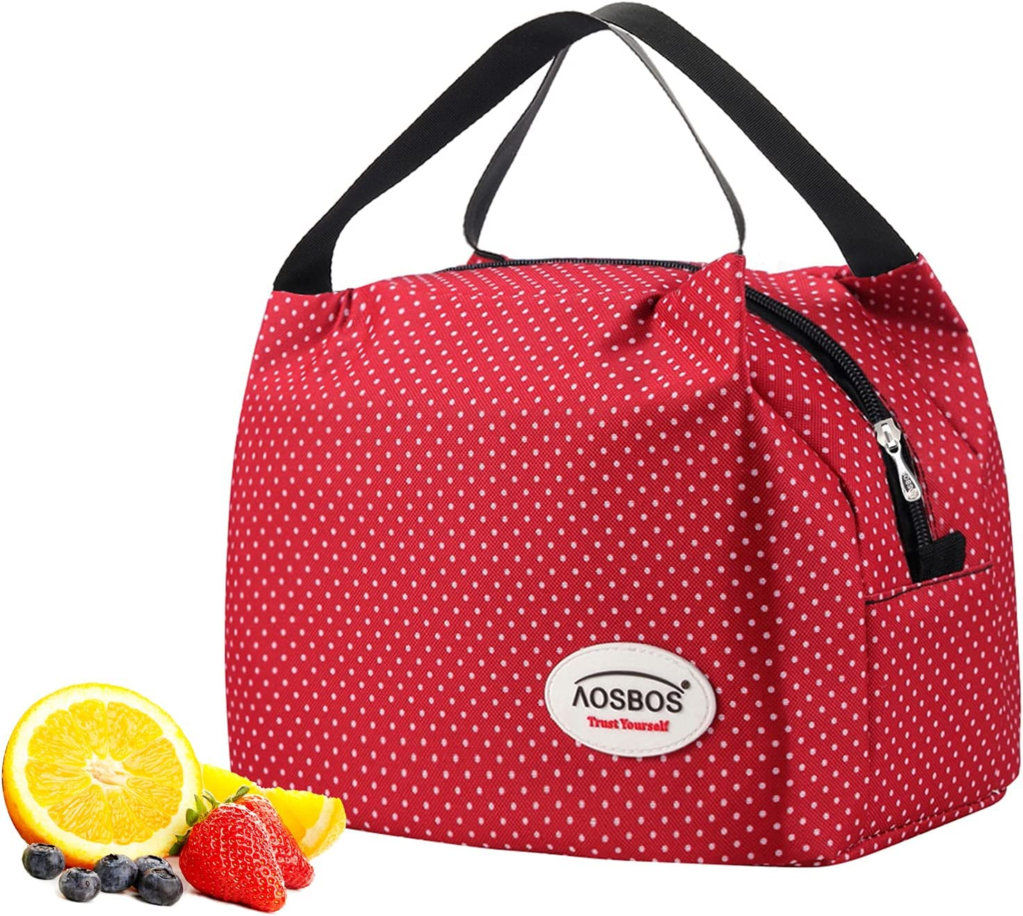 Kids Insulated Lunch Tote Bag Cooler Box Polyster Lunchbox Baby Bag Handbag Case