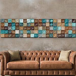 Large, Names of Allah, 99 Names of Allah Canvas Print, Islamic Wall Art, Islamic Home Decor, Islamic Gifts, Unique Design Canvas Wall Art Design, 4 Pieces,each 27,5x27,5 inches (Artwork 2)