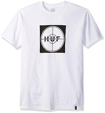 a82a4704 Amazon.com: HUF Men's Enemy Box Logo Tee, White, Medium: Clothing
