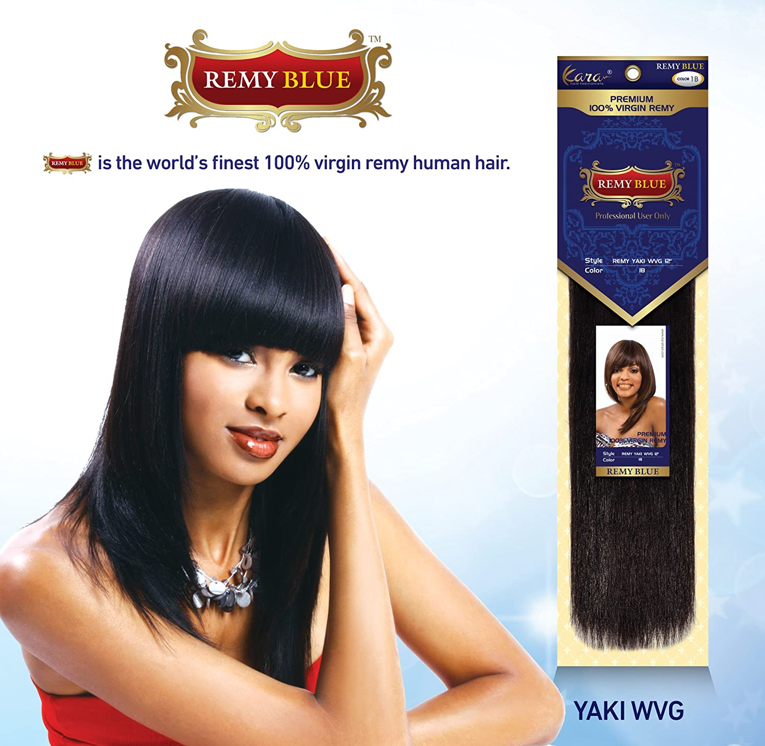 Amazon Remy Yaky Kara Remy Blue Yaky Human Hair Weave 18