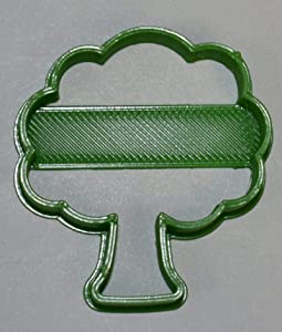 TREE PLANT TRUNK LEAVES NATURAL NATURE FOREST OAK APPLE PEACH FONDANT BAKING TOOL COOKIE CUTTER MADE IN USA PR765