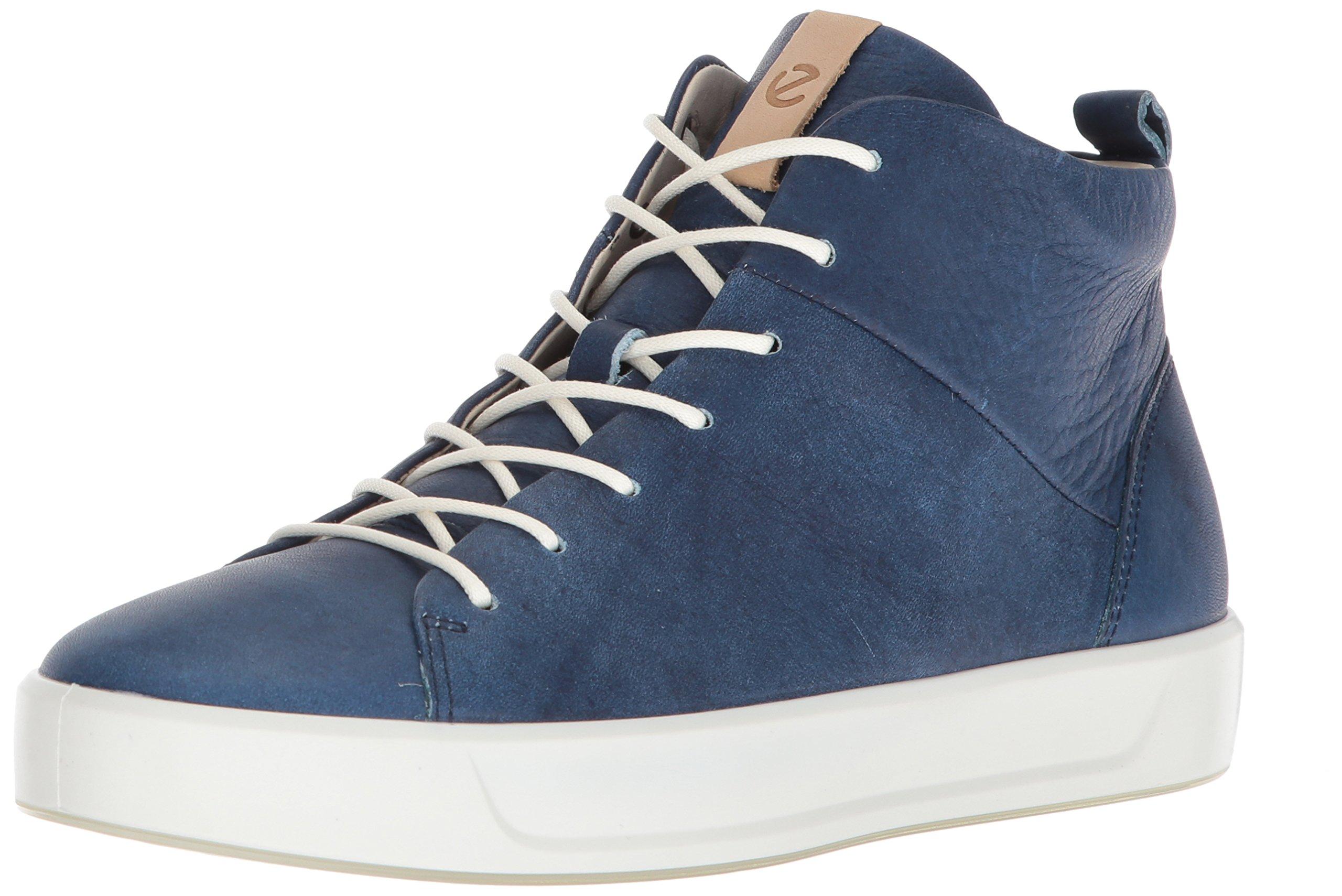 ECCO Women's Women's Soft 8 High-Top Sneaker, Indigo, 40 Medium EU (9-9.5 US)