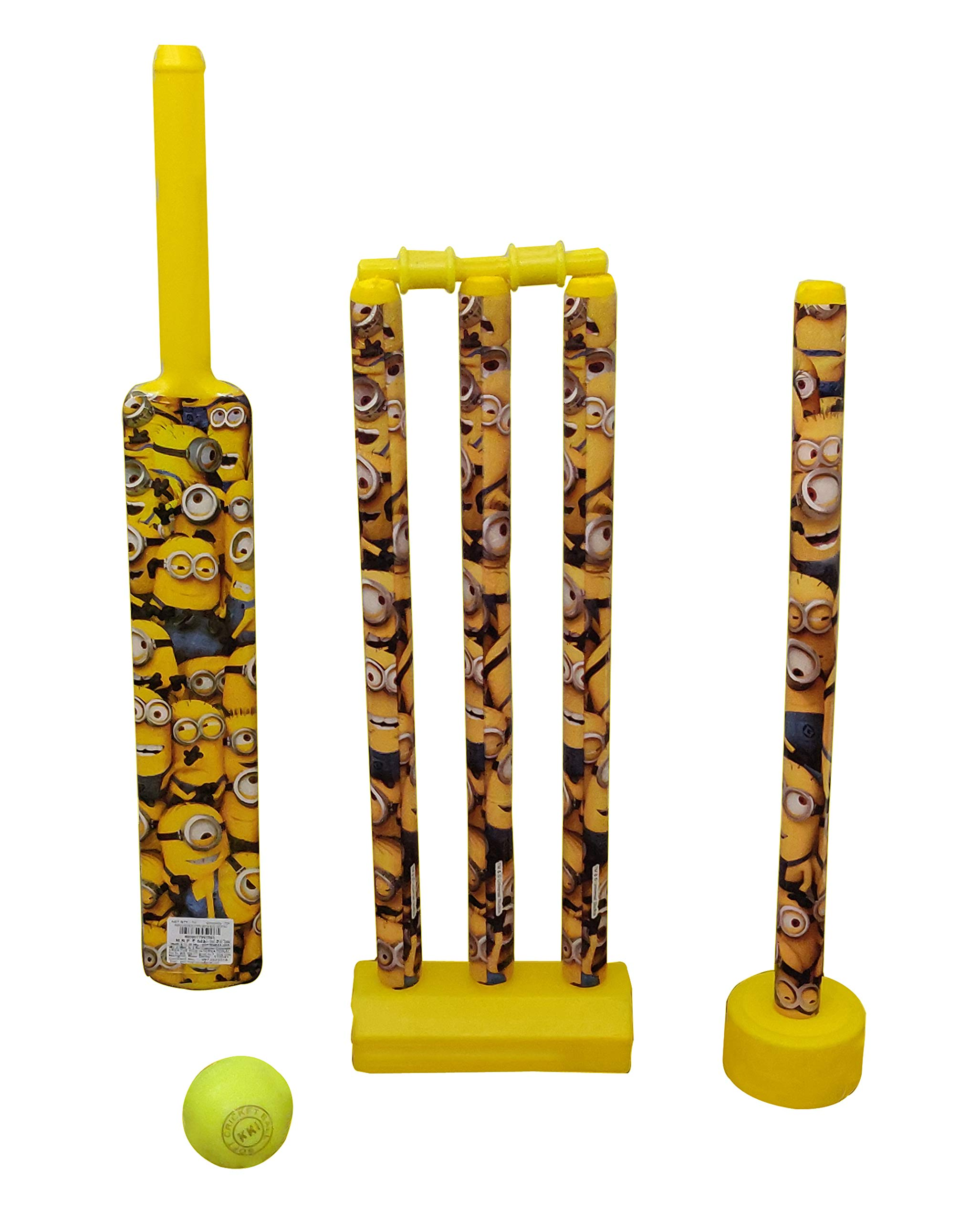 Amazon price history for kreative Kids Minion-Plastic Cricket Set with 4 Wicket , 2 Base , Bail and Soft Cricket Ball (BAT NO-4) Outdoor and Indoor
