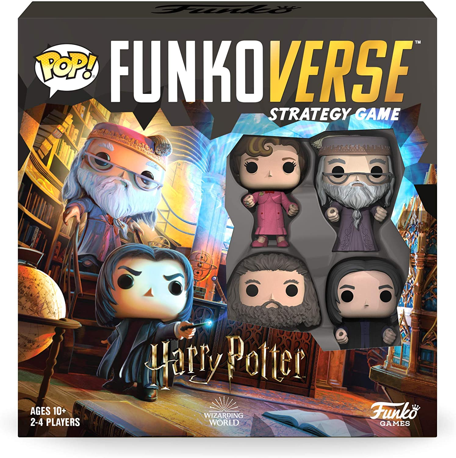 Amazon Com Funkoverse Harry Potter 102 4 Pack Board Game Toys Games