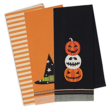 DII Cotton Halloween Holiday Decorative Dish Towels, 18x28 , Set of 3-Halloween Fun