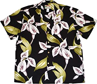 product image for Paradise Found Men's Calla Lily Tom Sellect Magnum PI Hawaiian Shirt