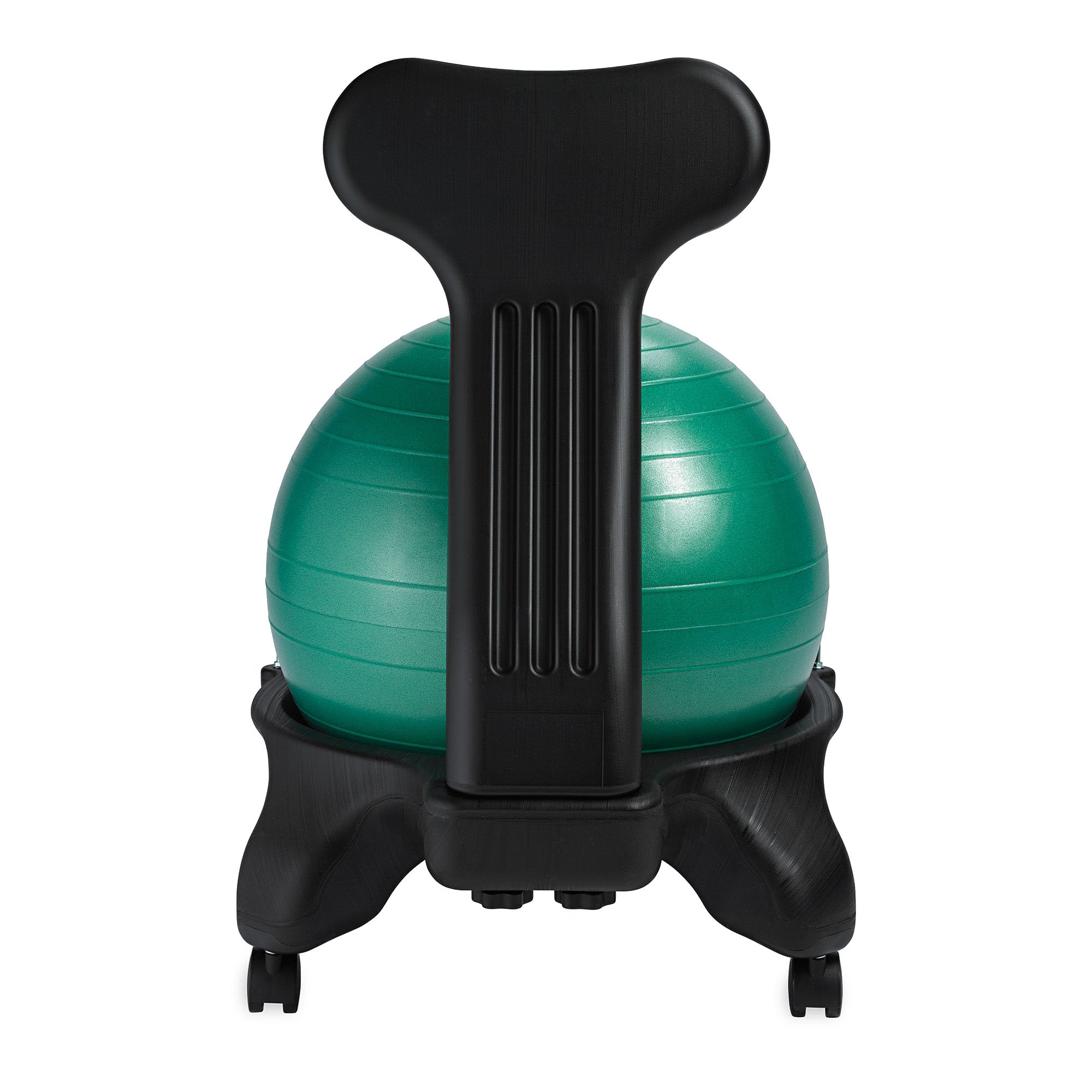 Gaiam Classic Balance Ball Chair – Exercise Stability Yoga Ball Premium Ergonomic Chair for Home and Office Desk with Air Pump, Exercise Guide and Satisfaction Guarantee, Green by Gaiam (Image #9)