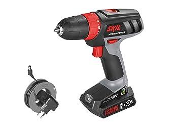 Skil 2461 AA Taladro atornillador a batería - utilice la batería o el cable - 16V Max: Amazon.es: Bricolaje y herramientas