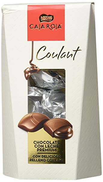 Nestlé Caja Roja Coulant - Bombones de Chocolate con Leche - 142 g