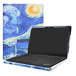"Alapmk Protective Case Cover For 14"" Lenovo Thinkpad X1 Carbon 7th Gen/6th Gen/5th Gen & ThinkPad X1 Yoga 4th gen Laptop(Note:Not fit Thinkpad X1 Carbon 1st Gen/2nd Gen/3rd Gen/4th Gen),Starry Night"