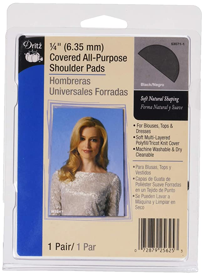 Dritz 53071-1 Shoulder Pads, Covered All-Purpose, 1/4