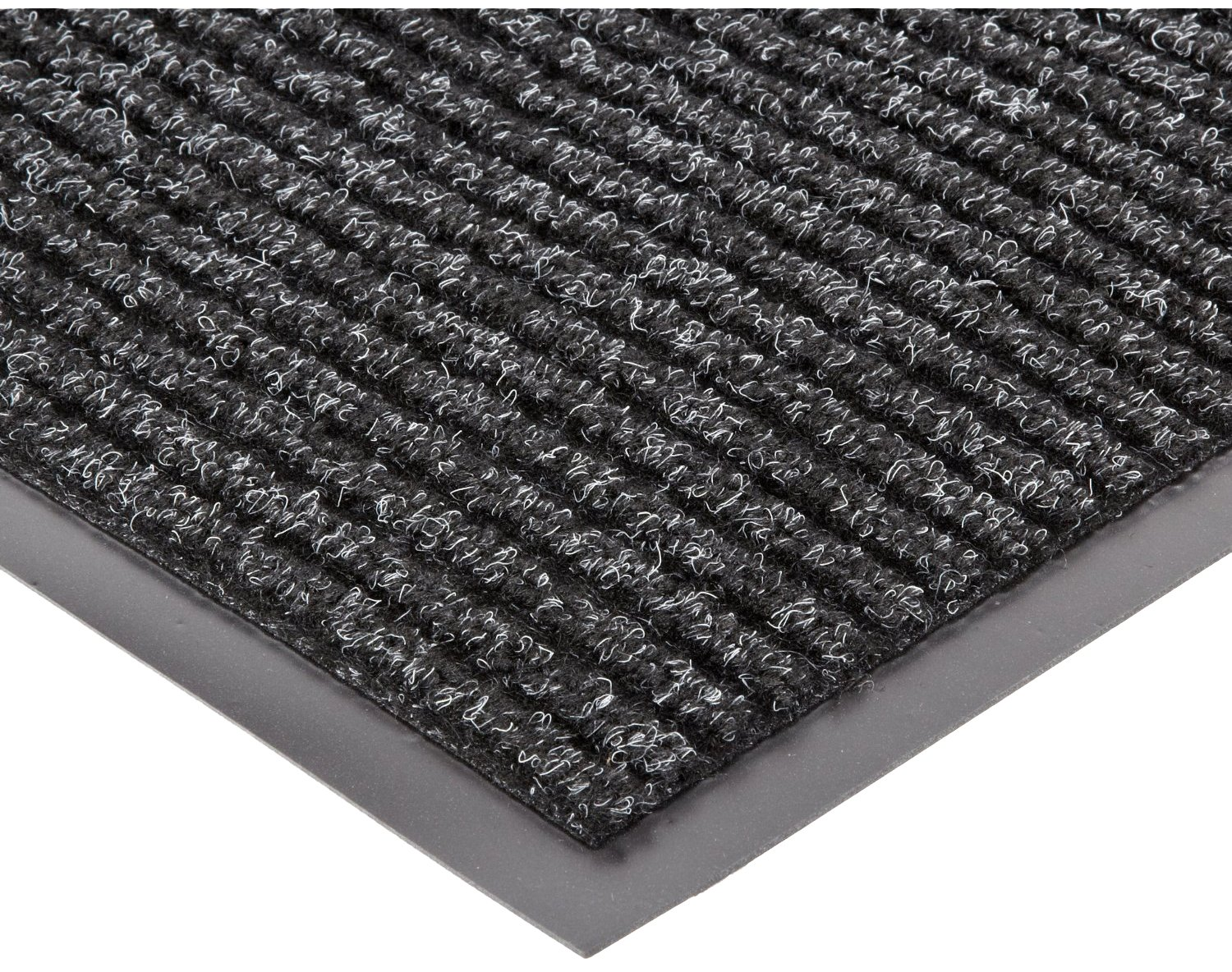 NoTrax 117 Heritage Rib Entrance Mat, for Lobbies and Indoor Entranceways, 4' Width x 8' Length x 3/8'' Thickness, Charcoal