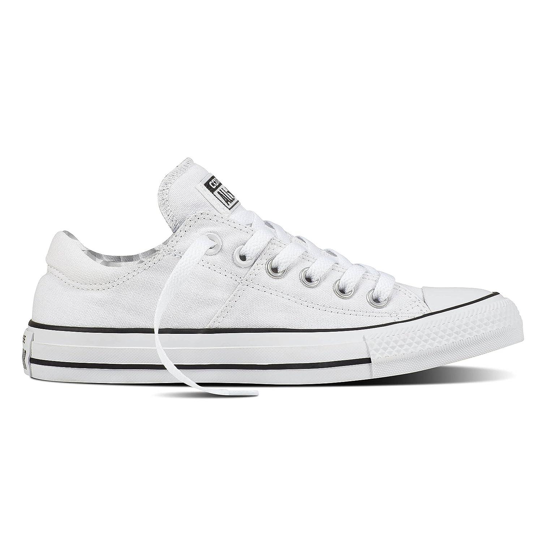 Converse Women's Madison Utility Chambray Low Top Sneaker B076DKXNRR 6 B(M) US|White/White/Black