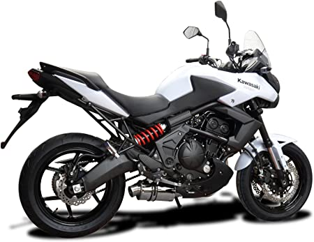 Delkevic Aftermarket Slip On compatible with Kawasaki Ninja 650 Versys 650 & ER-6N SS70 9