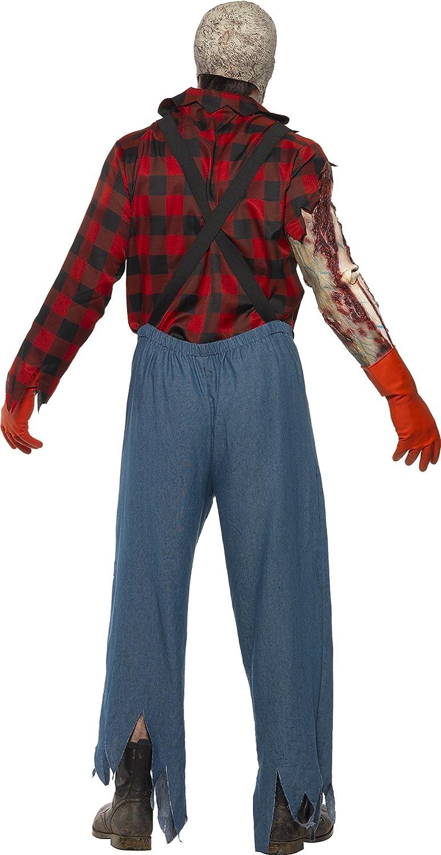 Smiffys Hillbilly Zombie Disfraz Mono / Máscara Barba / Guantes de ...