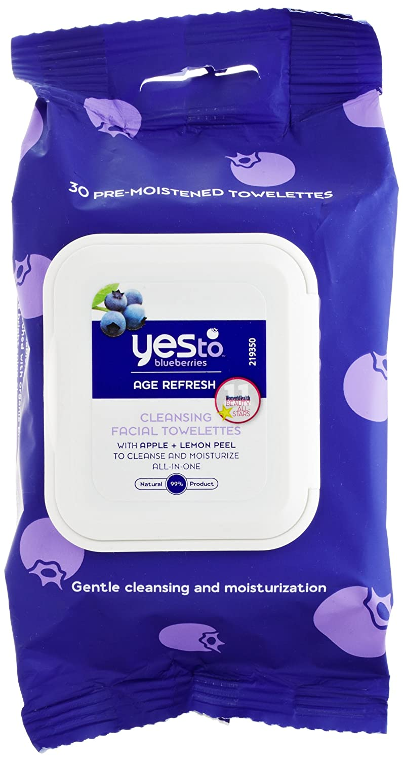 Yes To Blueberries Age Refresh Towlettes, 30-Count Yes To Inc. 7321005