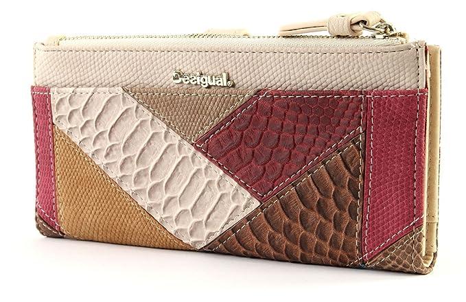 Desigual - Cartera para mujer Mujer marrón One Size: Amazon.es: Zapatos y complementos