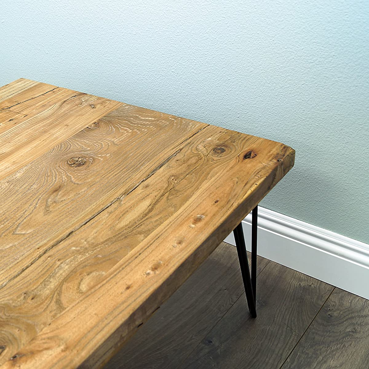 WELLAND Rustic Square Old Elm Coffee Table Unfinished
