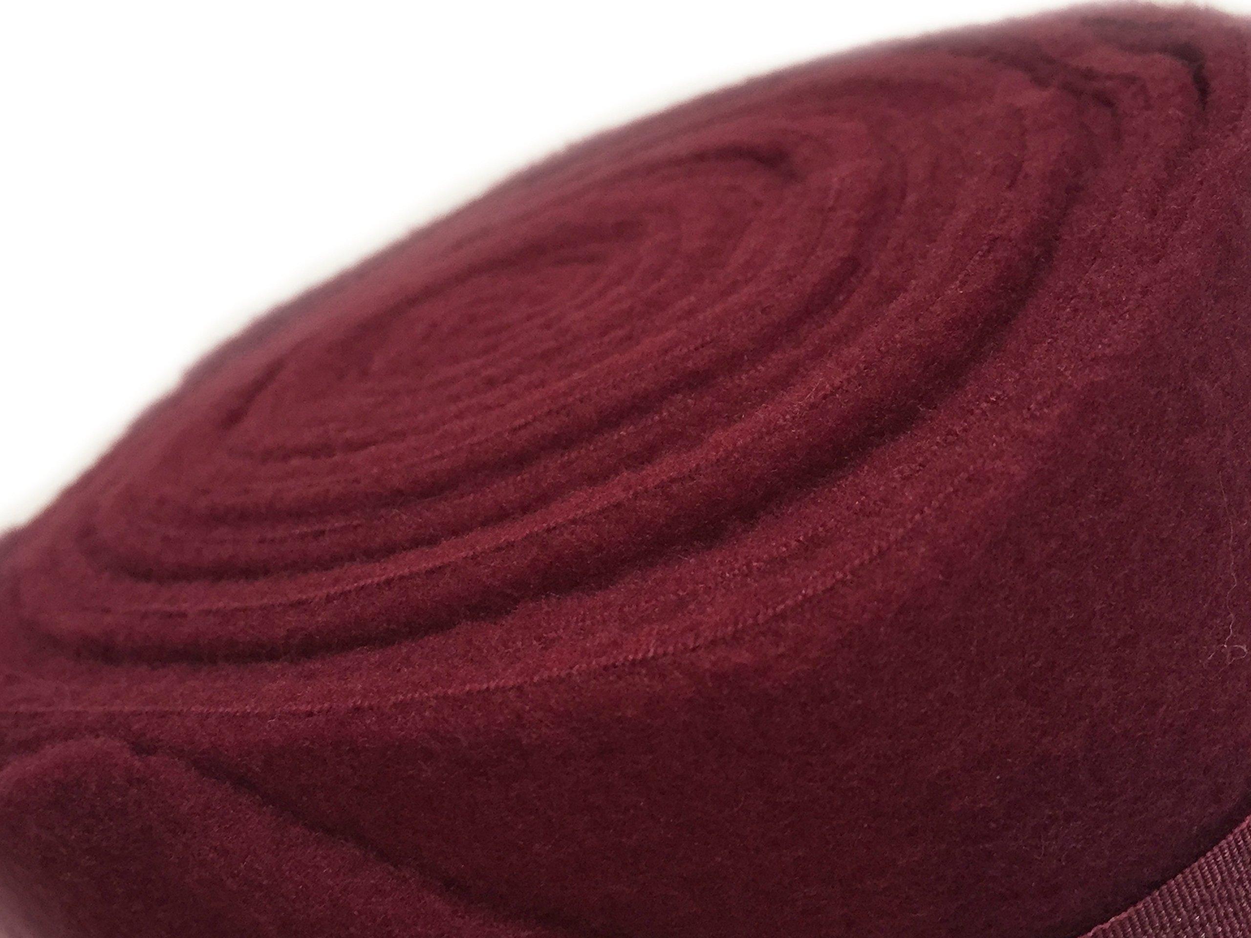 Set of Four Fleece Polo Wraps, Burgundy/Maroon, Horse Size