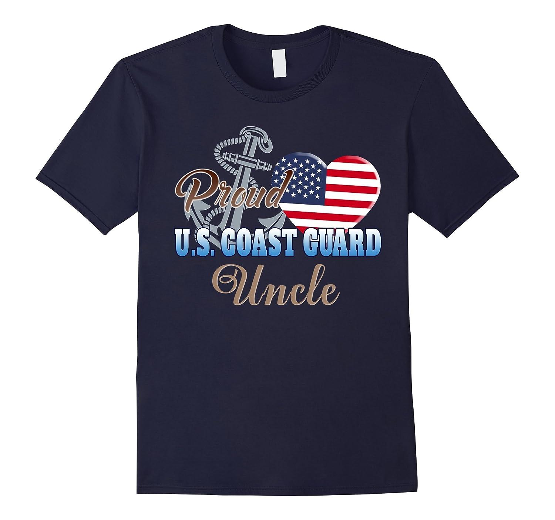 Proud U.S. Coast Guard Uncle Patriotic Heart T Shirt-Art
