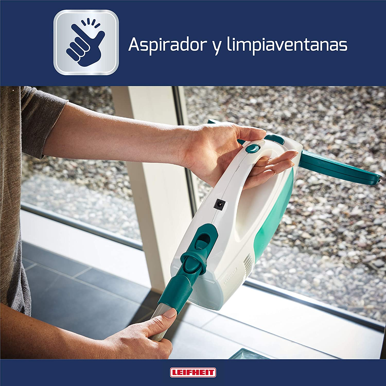 Leifheit Set aspirador limpiacristales Dry & Clean con palo y limpiaventanas para una limpieza 360º sin marcas, aspiradora vertical con 35 min de autonomía: Amazon.es: Bricolaje y herramientas