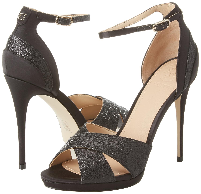 Guess FLTA21 SAT03 Sandalo Tacco Donna Nero 35