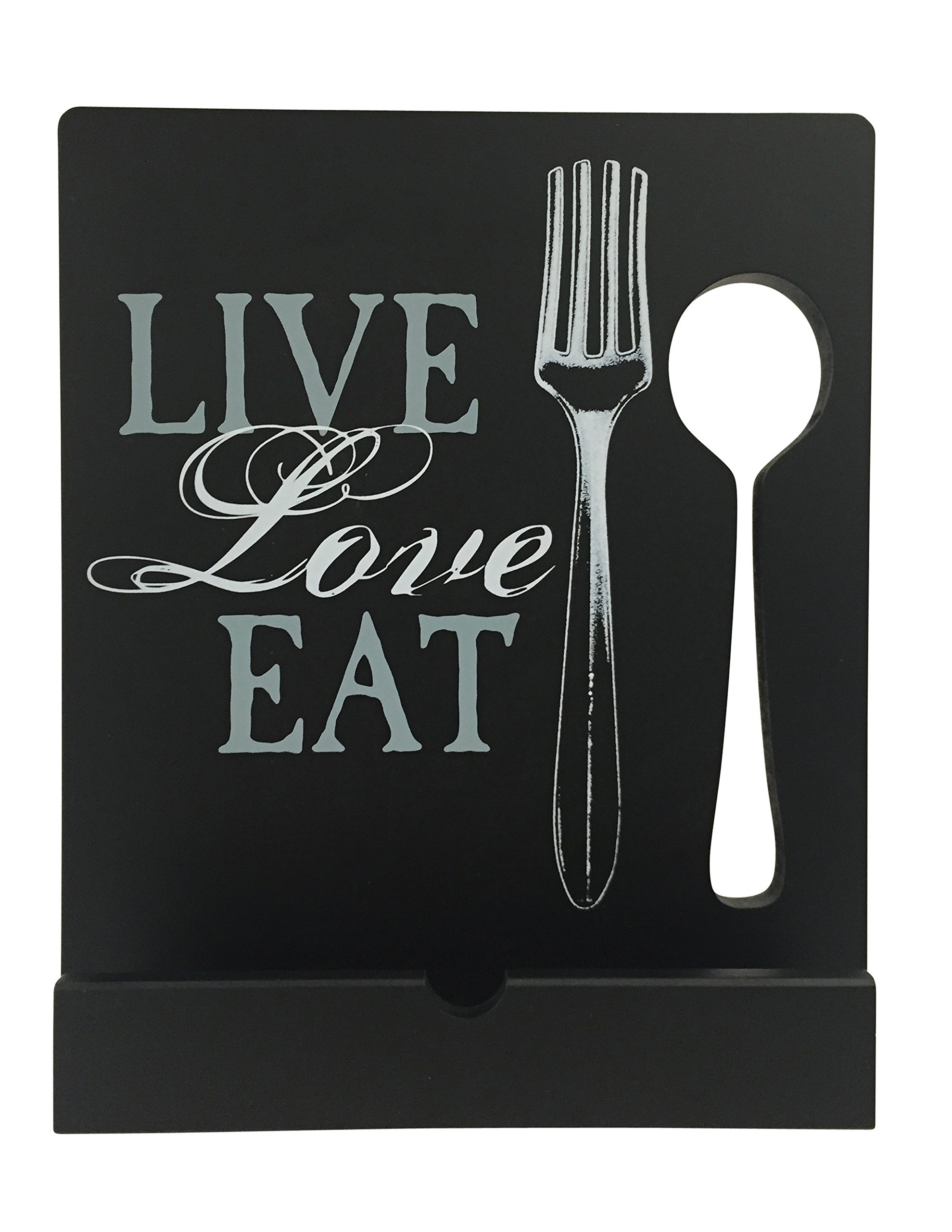 Tablet Holder and Cookbook Stand, Live Love Eat Design, By Boston Warehouse by Boston Warehouse