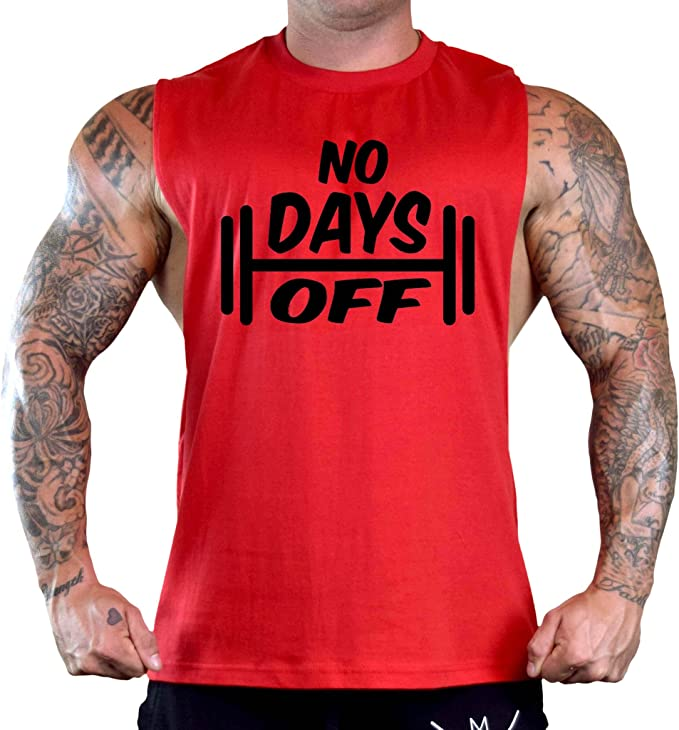 Mens No Days Off V103 Stringer Tank Top