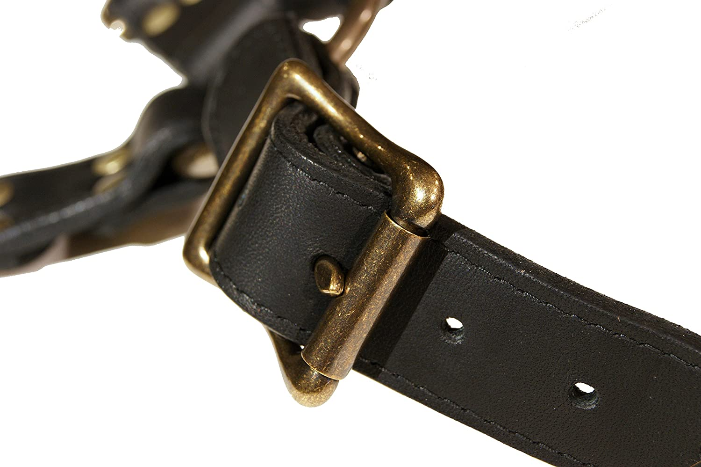 Project Transaction Mens Leather Leg Strap Black