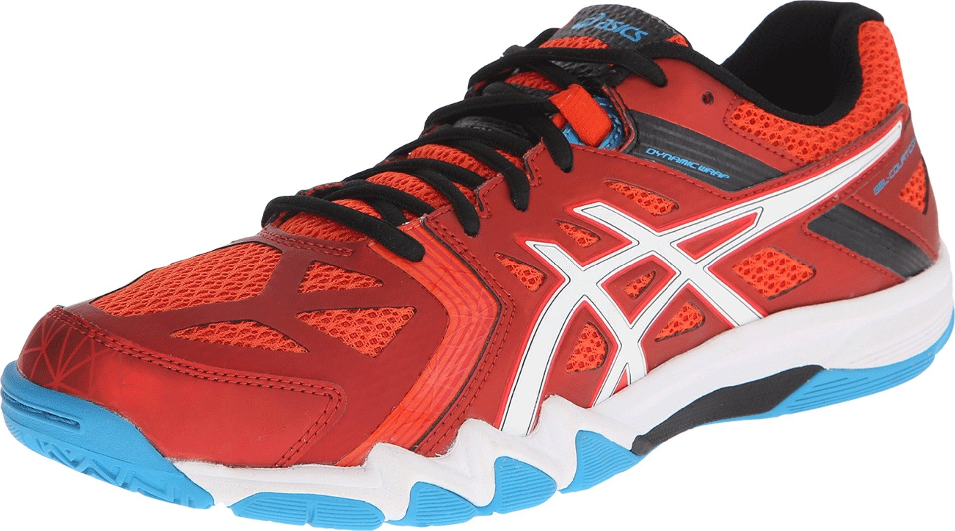 ASICS Men's Gel-Court Control Volleyball Shoe, Cherry Tomato/White/Turquoise, 15 M US