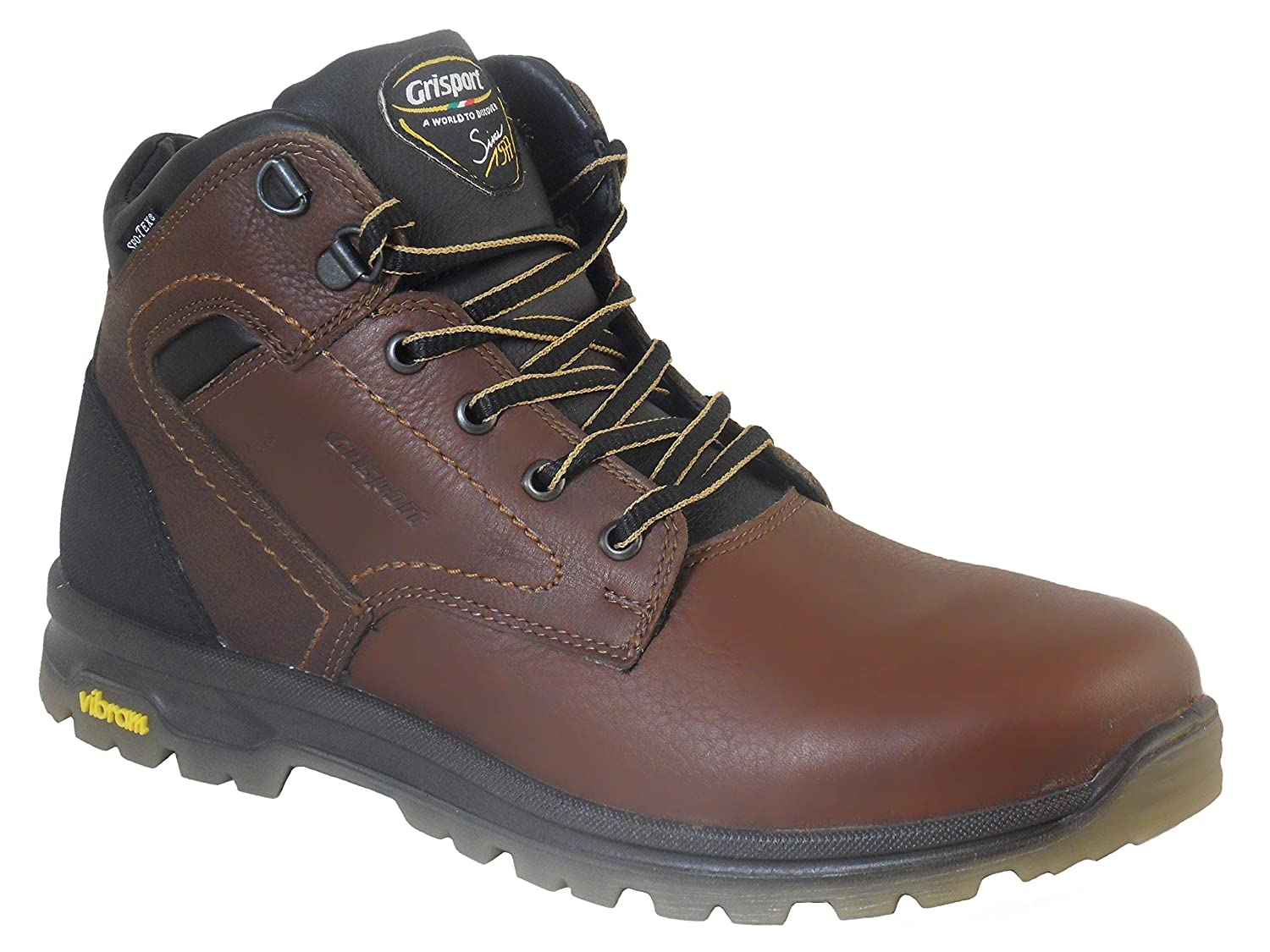 cfc9a7bd90a Grisport Mens Hawk Waterproof Leather Walking Boots Brown: Amazon.co ...