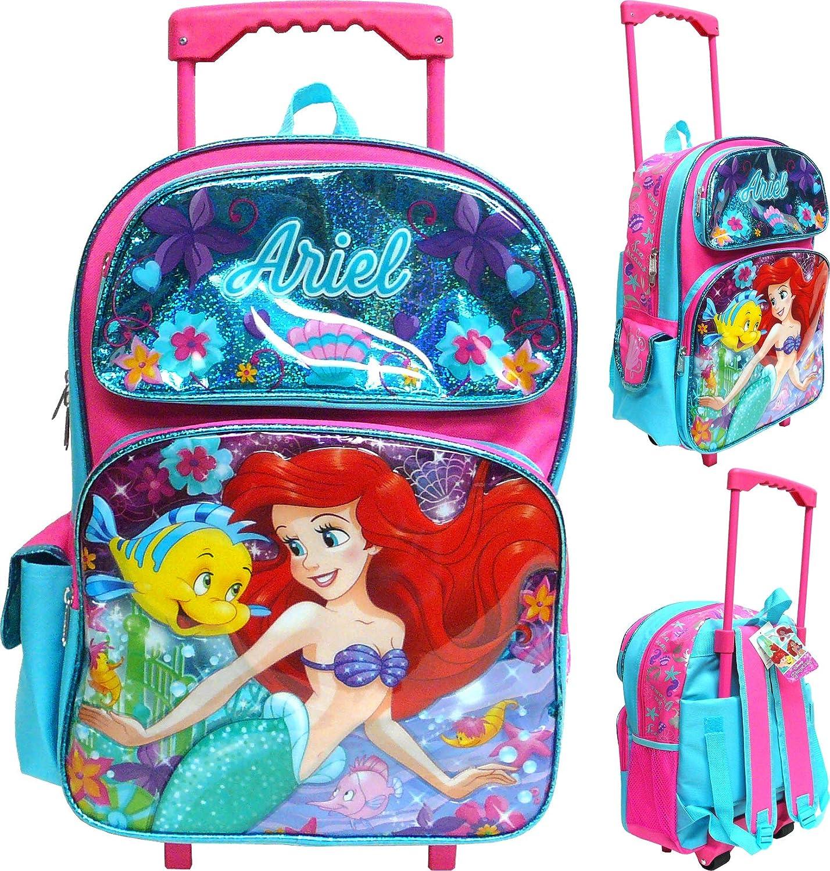 Girls Rolling Luggage with Wheels Kids Suitcase Mermaid