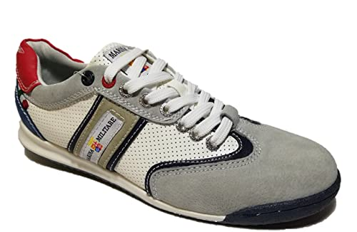 5ae52e67799b1c Marina Militare Scarpe Uomo Sneakers CAMOSCIO/Pelle Grigio-Bianco - MM1551  (41 EU