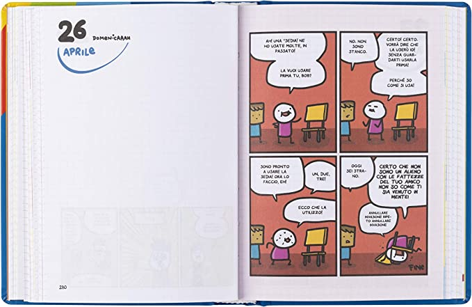 Agenda 16 Mesi F.to Medio Datato Comix Scottex By Sio