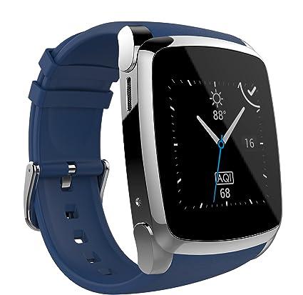 PRIXTON Smartwatch SW21 - Reloj Inteligente Compatible Compatible con iOS/Android, Aviso de Notificaciones de RRSS, Mail, Llamadas, Color Azul