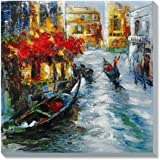 Asmork 絵画 壁掛け 手書き 油彩 油絵 風景画 絵画抽象芸術作品‐最高のプレゼント 30*30cm